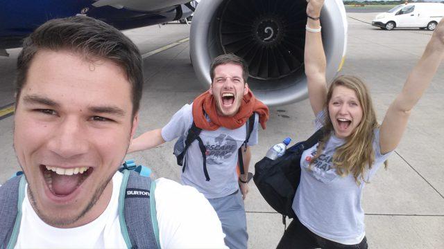Escape and Pray team vliegtuig